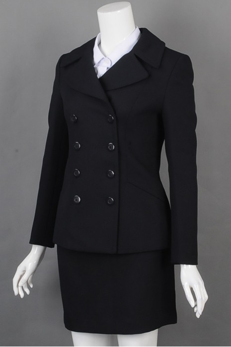 iG-BD-CN-151设计时尚女西装套装 订购双排扣女西装 女西装制造商
