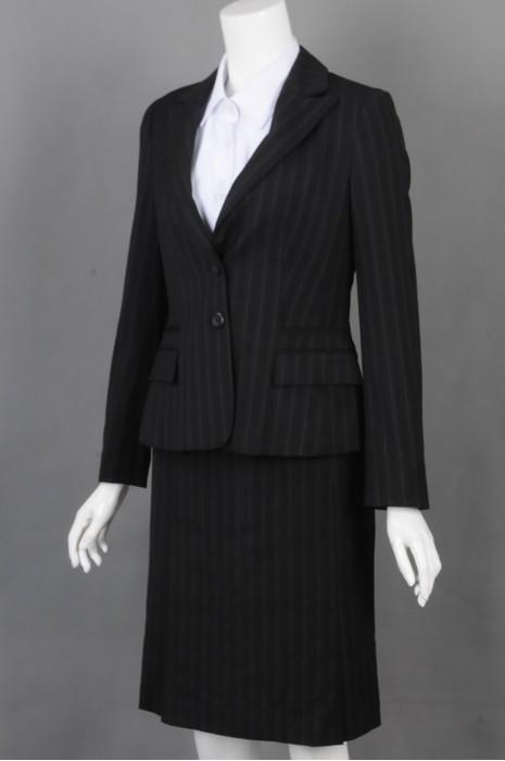 iG-BD-CN-146 制造修身条纹女西裙 来样订造女西装 女西装制服公司