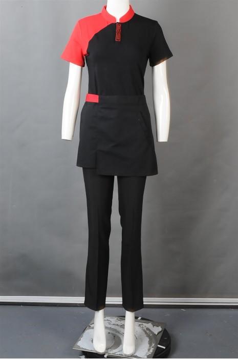 iG-BN-CN-030 制造短袖员工制服 餐饮服务员制服 厨师制服专营