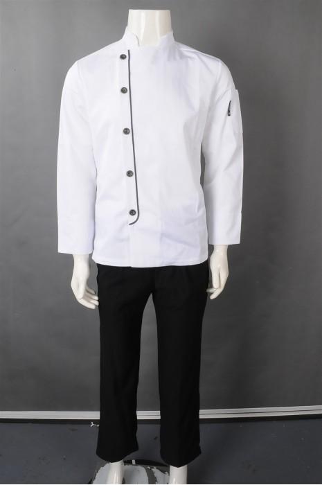 iG-BN-CN-045 网上下单厨师制服 来样订做白色厨师制服 厨师制服hk中心