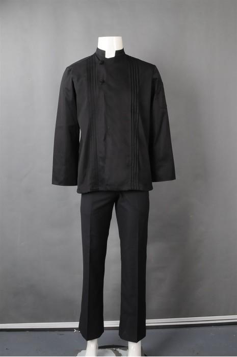 iG-BN-CN-044 供应黑色厨师制服 设计餐饮厨师制服 厨师制服制造商