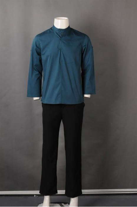 iG-BN-CN-063 供应绿色厨师制服 设计餐饮厨师制服 厨师制服制造商