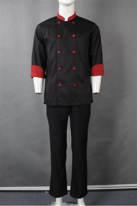 iG-BN-CN-059 制造双排扣厨师制服 订购中长袖厨师制服 餐饮制服供应商