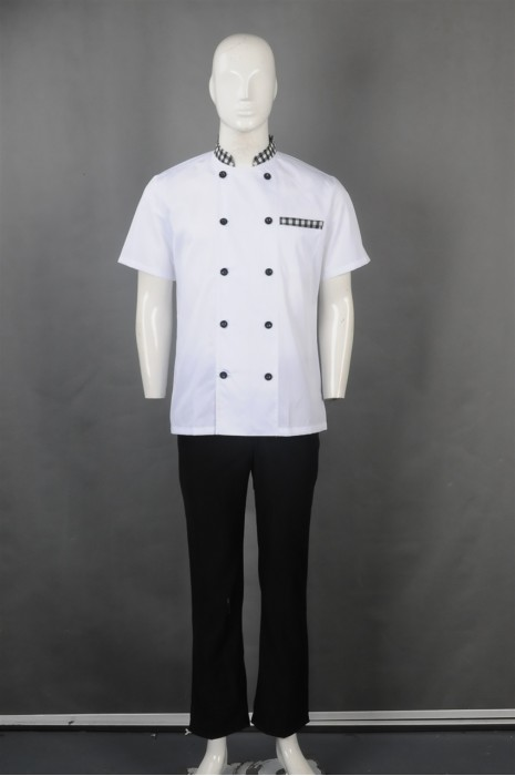 iG-BN-CN-061 订购白色厨师服 设计双排扣厨师服  厨师制服制服公司