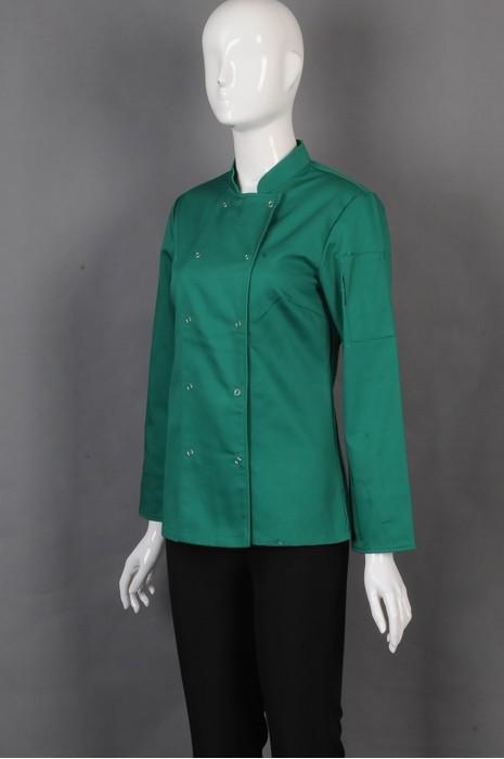 iG-BD-CN-071 来样订造绿色厨师服 大量订购厨师服 厨师制服专营