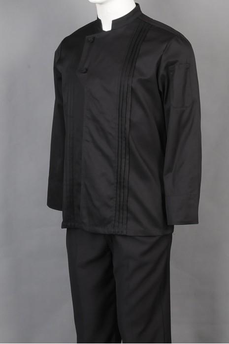 iG-BD-CN-060 供应黑色厨师制服 设计餐饮厨师制服 厨师制服制造商