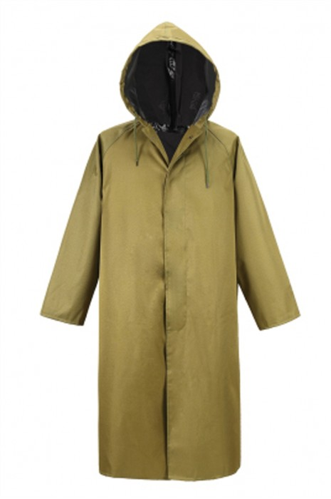 SKRT017 網上訂購連帽過膝雨褸 鈕扣雨褸 設計直筒袖口雨褸 雨褸製服公司