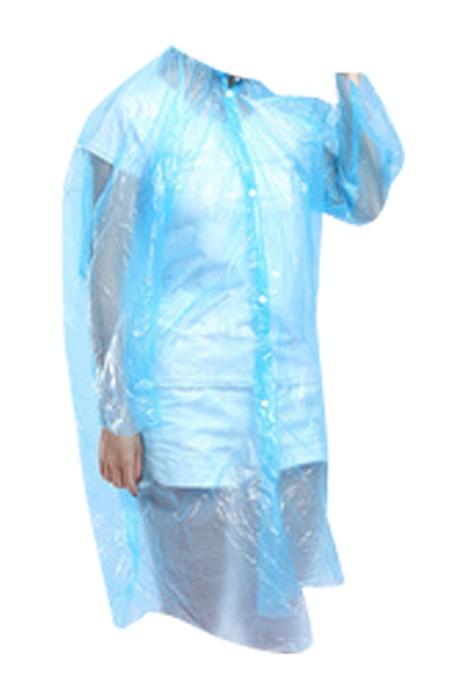 SKRT025 製作一次性透明雨褸 防雨 時尚鈕扣連帽雨褸 雨褸中心 旅遊 戶外 激流