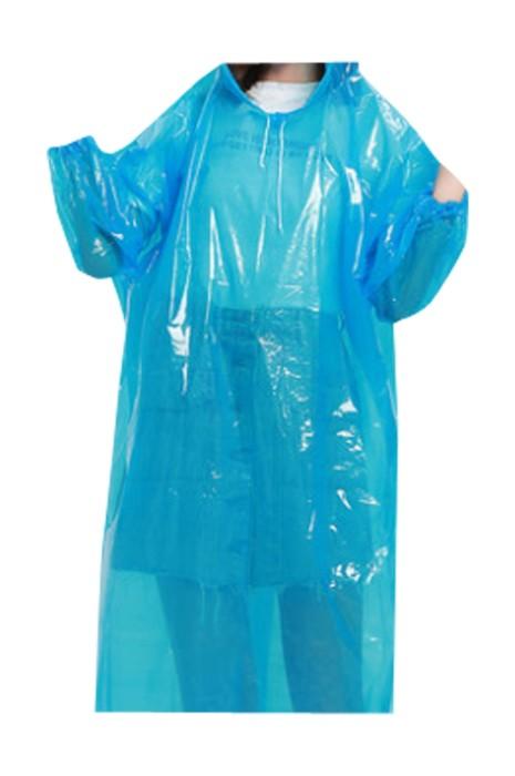 SKRT027 訂製加厚連帽抽繩一次性雨褸  設計束口袖一次性雨褸 雨褸工廠 旅遊戶外