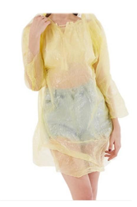 SKRT031  網上訂購輕薄連帽一次性雨褸 旅遊 戶外活動 訂製叁件裝直筒袖口雨褸 雨褸中心
