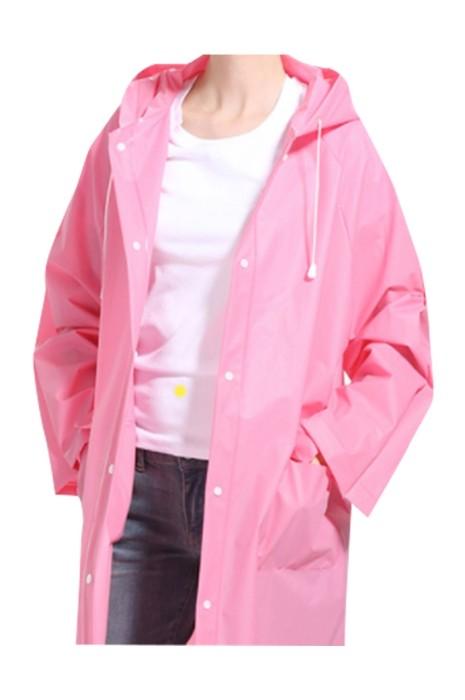 SKRT040 訂製透明旅行背包雨衣  戶外 登山 郊遊 設計時尚塑膠全身雨衣 雨衣供應商