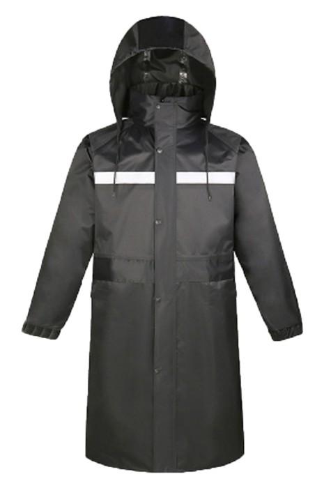 SKRT042 製造連帽全身雨褸 設計長身反光雨褸 長褸款雨褸中心