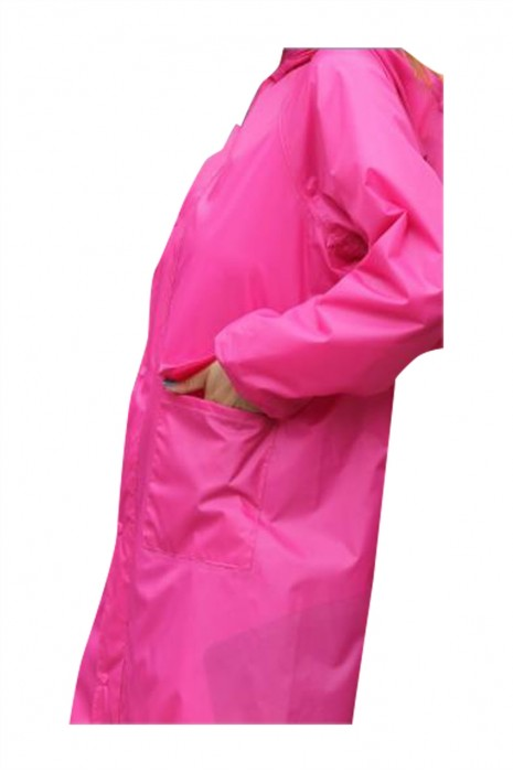 SKRT043  製造雙層風衣雨衣 設計單條反光帶風衣雨衣 拉鏈 啪鈕雨衣 防暴雨 防風 騎行 徒步登山 戶外露營 風衣雨衣中心  風衣式雨衣