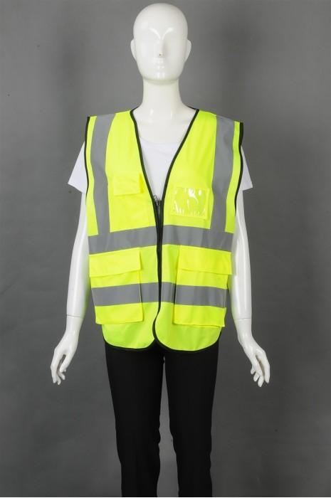 iG-BD-CN-092 制造背心外套工业制服 设计V领 大容量口袋工业制服 工业制服供应商