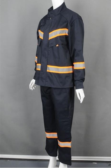 iG-BD-CN-009 来样订制套装工业制服 设计可调节袖 反光带工业制服 工业制服中心