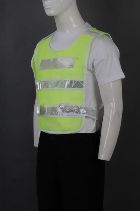 iG-BD-CN-073 订制荧光色背心马甲工业制服 设计前后反光带 两侧魔术贴可调节工业制服 工业制服供应商