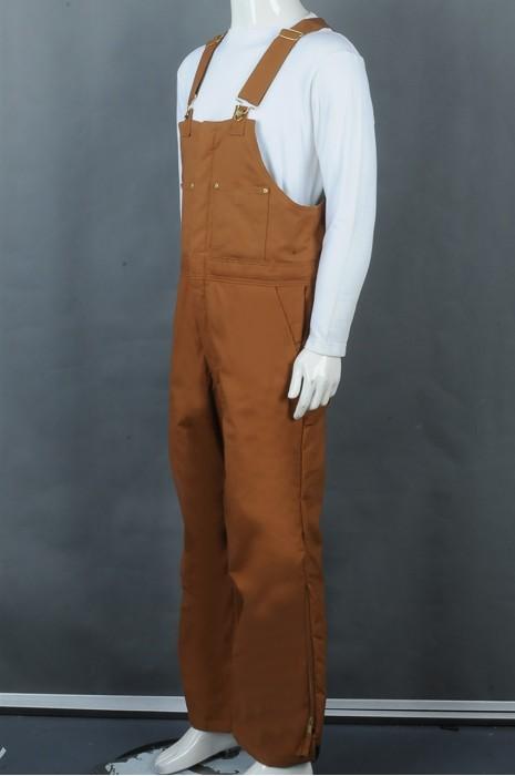 iG-BD-CN-080 订制背带长裤工业制服 设计拉链裤脚 可调节肩扣工业制服 工业制服供应商