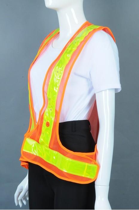 iG-BD-CN-096 订制马甲背心工业制服 设计LED灯 魔术贴可调节大小工业制服 工业制服供应商