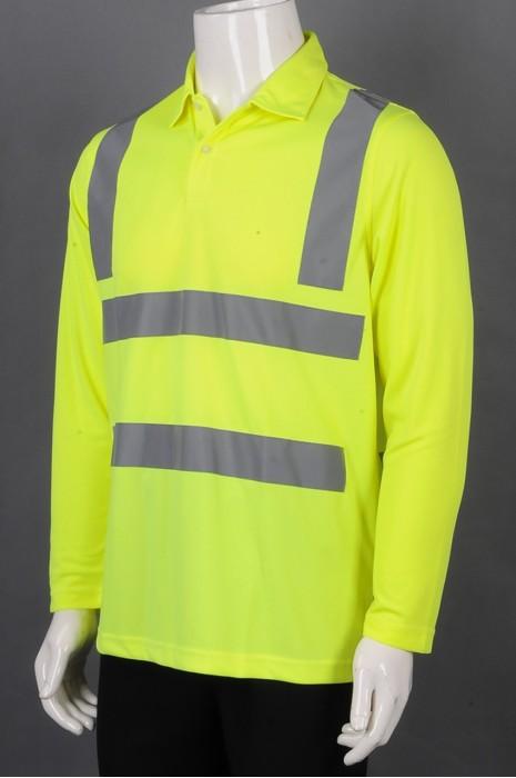 iG-BD-CN-106 订制长袖POLO恤工业制服 设计反光条工业制服 工业制服供应商