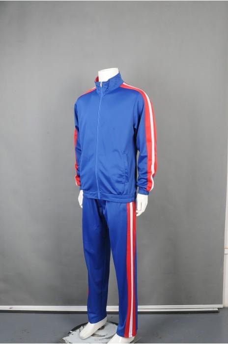 iG-BD-CN-047 制造蓝色长袖套装团体制服 设计橡筋袖口长袖外套团体制服 团体制服供应商