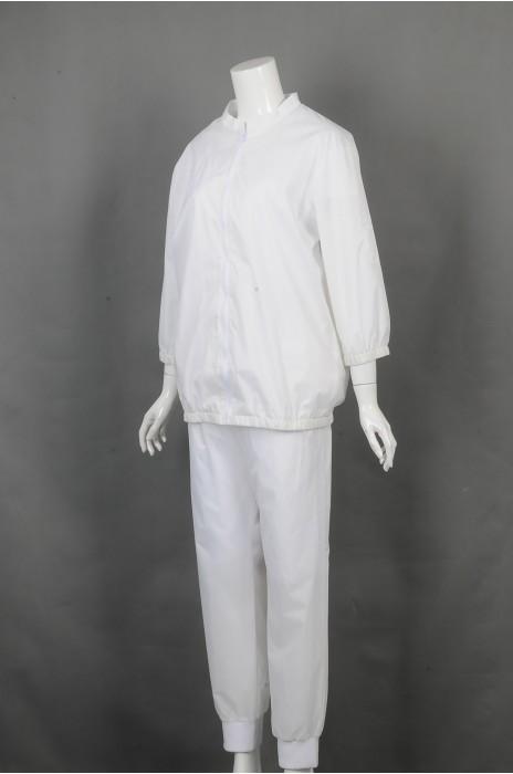 iG-BD-CN-175 订做白色长袖运动套装 制造橡筋束袖团体制服 团体制服供应商