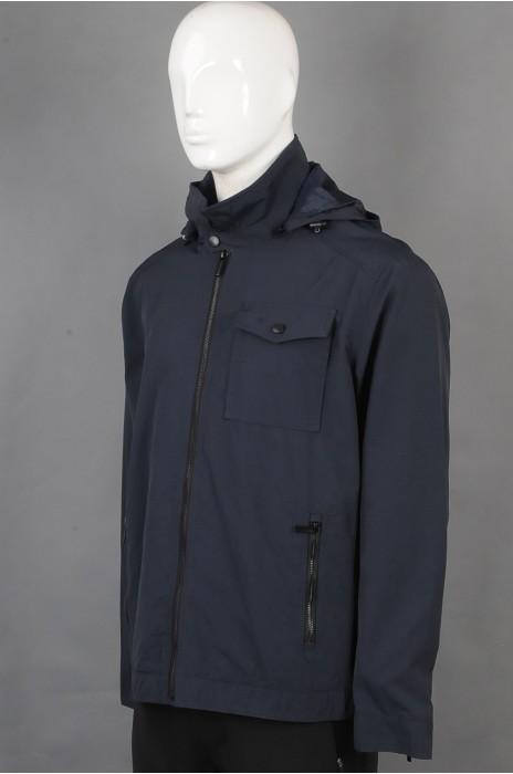 iG-BD-CN-209 制造黑色连帽团体制服 时尚拉链袖口团体制服 团体制服专门店