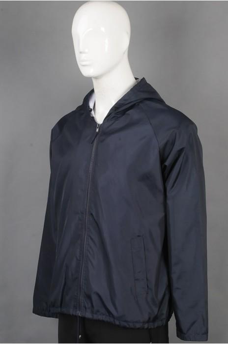 iG-BD-CN-208 订制长袖风衣团体制服 设计连帽团体制服 团体制服供应商