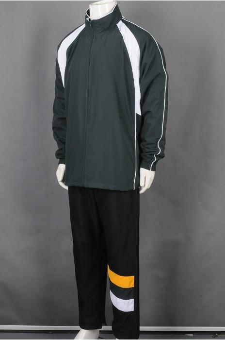 iG-BD-CN-203 订制拼接拉链外套团体制服 设计拉链裤脚团体制服 团体制服中心