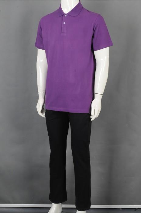 iG-BD-CN-201 制造紫色短袖团体制服 设计POLO领团体制服 团体制服生产商