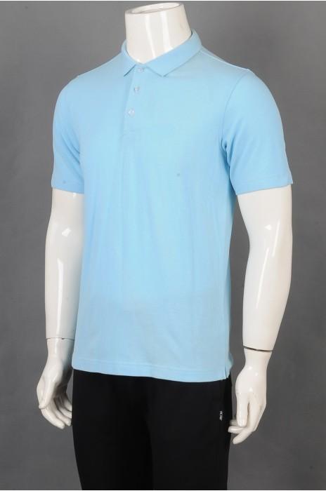iG-BD-CN-200 订做蓝色短袖团体制服 设计POLO领团体制服 团体制服中心