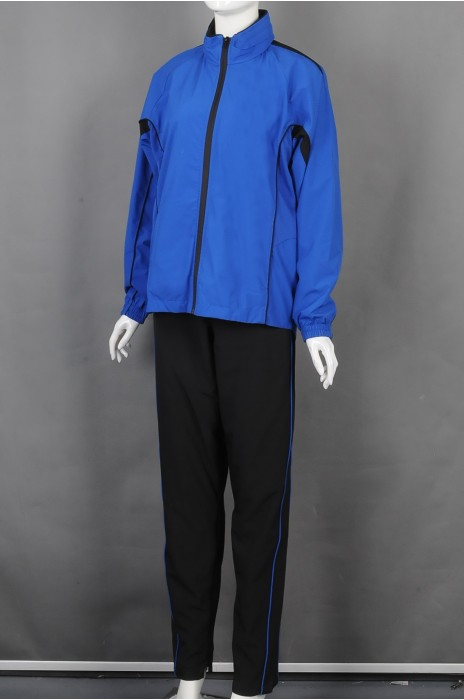 iG-BD-CN-197 订做蓝色团体制服 设计拉链外套团体制服 团体制服供应商