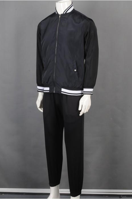 iG-BD-CN-187 订制棒球外套团体制服  设计时尚黑色团体制服 团体制服供应商