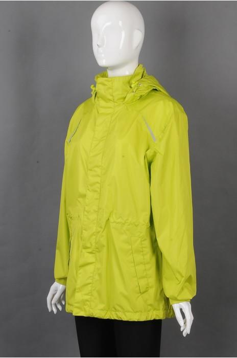iG-BD-CN-174 订制长袖连帽外套团体制服 设计反光条团体制服 团体制服供应商