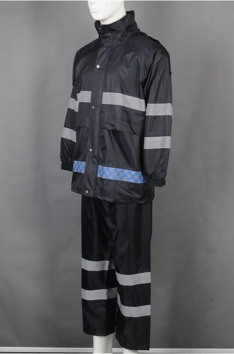 iG-BD-CN-121 制造长袖反光条雨褛制服 设计连帽雨褛制服 雨褛制服中心