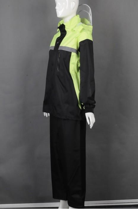 iG-BD-CN-113 网上下单订购长袖拼接雨褛套装 设计橡筋束袖雨褛制服 雨褛制服中心