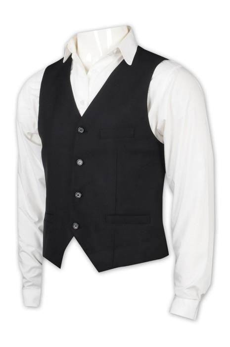 SKMS002 訂製男西裝馬甲外套 設計後腰調節扣男西裝 男西裝中心 藏青色
