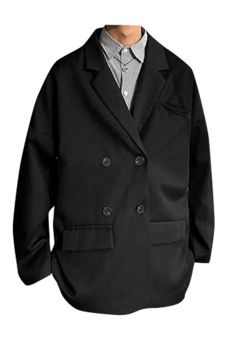 SKMS005 訂製男裝寬鬆休閒西裝外套 雙排扣  休閒商務西裝外套