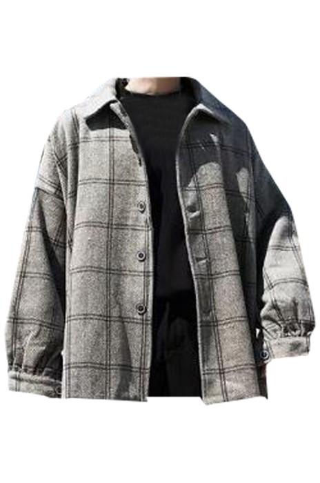 SKMS008 供應男裝寬袖格子西裝外套 設計單排紐扣休閒西裝 西裝專門店