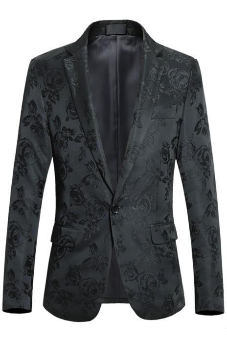 SKMS011  訂購秋季新款  男式青年帥氣刺繡   小西裝時尚   提花修身花色西服外套