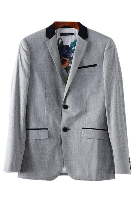 SKMS015   訂購單排扣   修身千鳥格紋西裝外套   春裝新款折扣男裝  千島紋