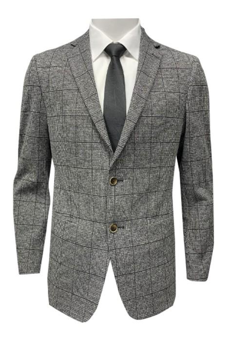 SKMS016  訂製西裝男線下  專櫃大牌西服外套   千鳥格格紋修身潮流上衣