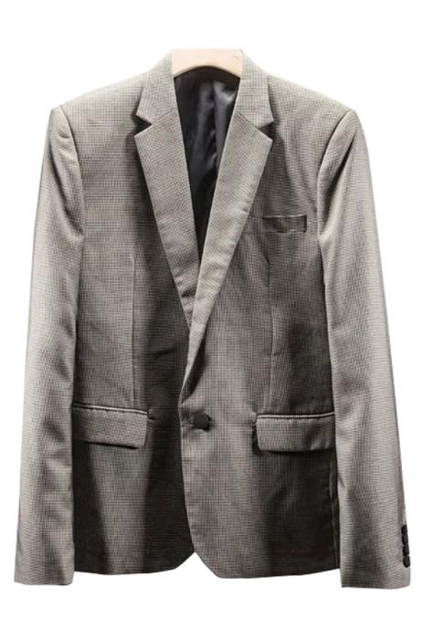 SKMS017  訂購千鳥格紋輕奢西服   正裝春夏新款   男士韓版修身   商務休閒職業單西上衣