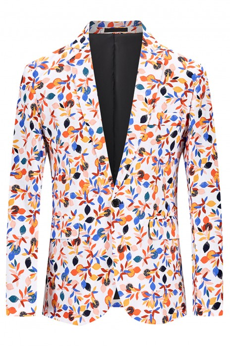 SKMS018  訂製新款碎花小西裝   夜店髮型師   單西一粒扣   走秀網紅外套  上衣男西服