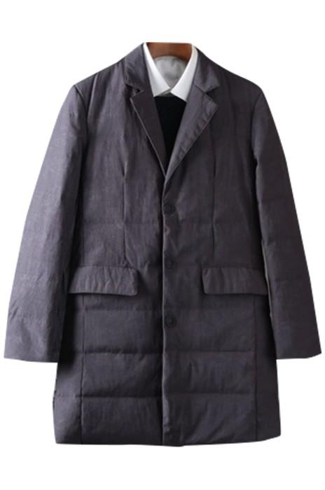 SKMS020  男士西服領   羽絨服純色   時尚潮流   修身青年   百搭中長鴨絨衫西裝領外套