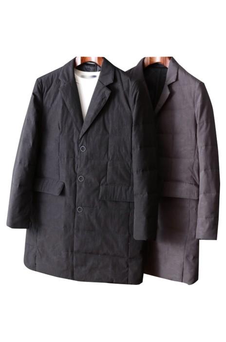 SKMS021  商務休閒西裝  領輕薄羽絨服   中長款冬純色百搭    鴨絨服外套上衣