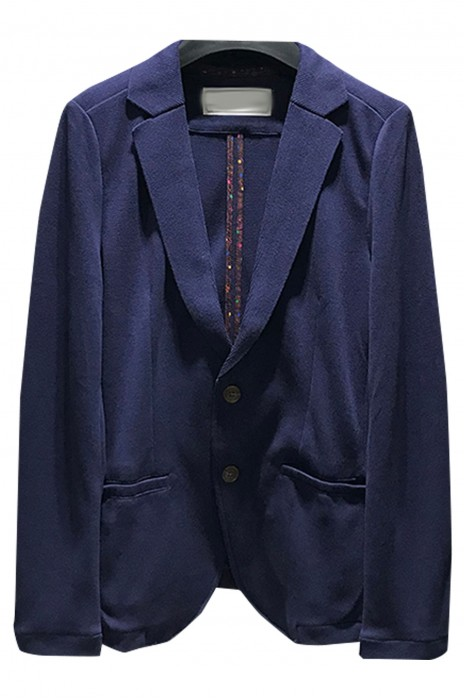 SKMS024  訂製純色針織西服   外套春季新款   男裝針織西裝