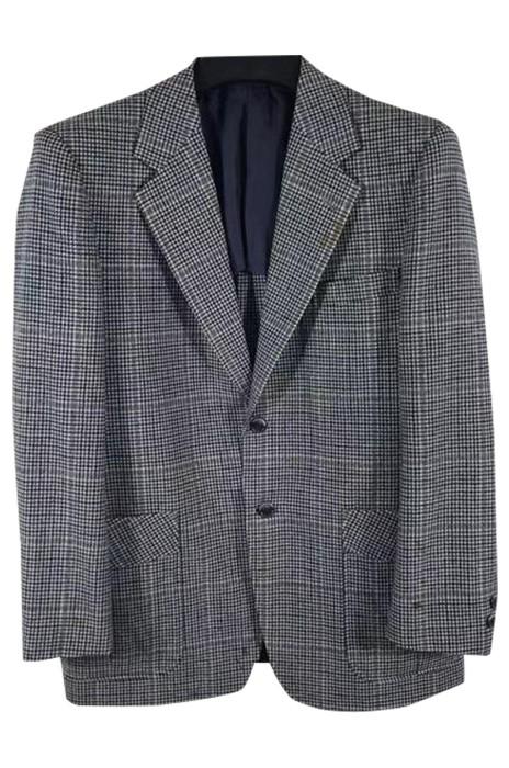 SKMS027  大量訂製男裝復古西裝外套  設計休閒花呢格人字紋西裝外套  西裝外套專門店