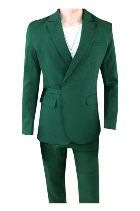 SKMS029  製造英倫修身西裝外套   設計淨色腰帶配飾西裝外套 商務 西裝外套製衣廠