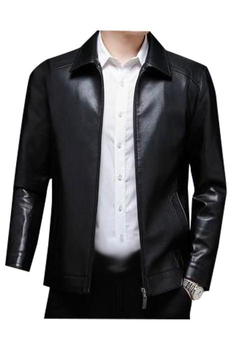 SKMS033  製造皮衣機車男西裝外套  時尚設計翻領拉鏈西裝外套  西裝外套專門店