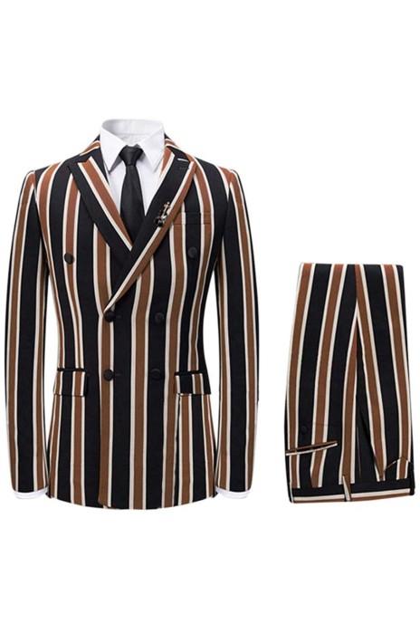 SKMS038   自定划船西裝外套   時尚設計1粒雙排釦   雙開衩   三件套   西裝外套專門店